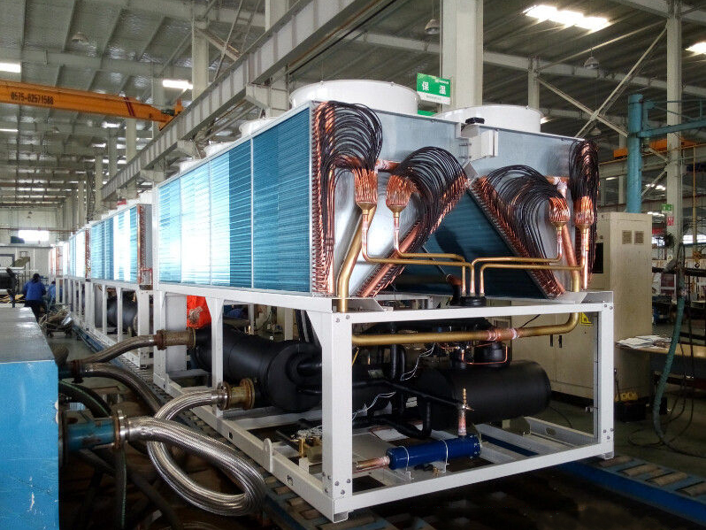 Air cooled screw chiller 700KW with heat pump